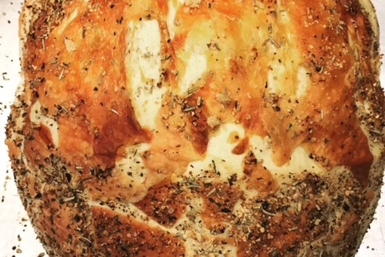 Parmesan Crusted Herb Bread