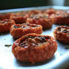 Slow Roasted Tomato, Caramelized Onion and Goats Cheese Tart