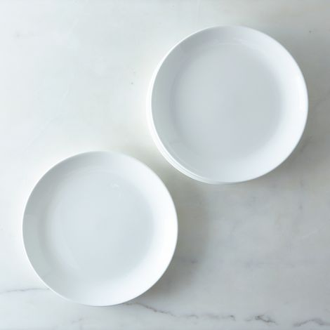 Purio White Dinner Plates (Set of 4)