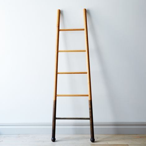 Solid Oak Oxidized Decor Ladder