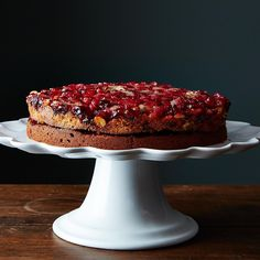 Double Layer Cranberry Ginger Upside-Down Cake