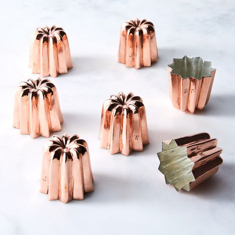 Vintage Copper French Cannelé Moulds (Set of 7), Late 19th Century