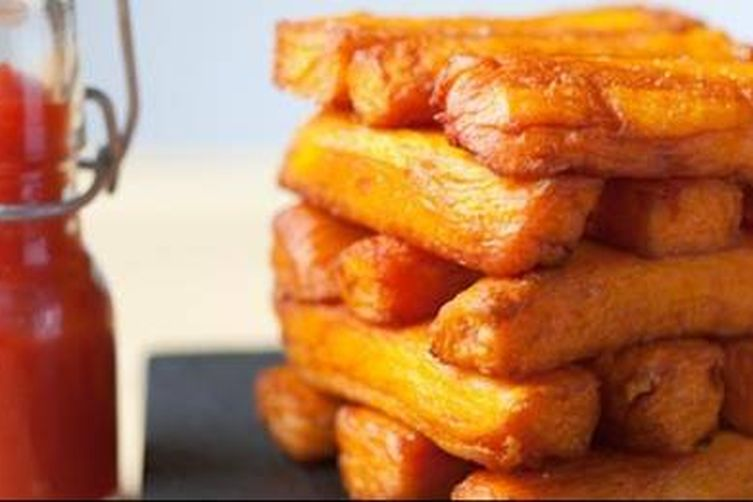 Triple-Cooked Sweet Potato Chips