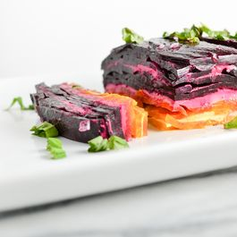 Beet Terrine with Goat Cheese