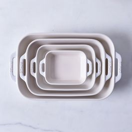 Staub Ivory Rustic Ceramic Rectangular Baking Dishes
