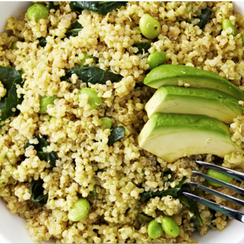 Avocado & Kale Quinoa Salad