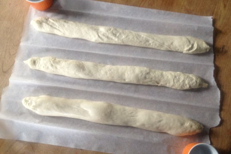 "Makeshift ""Couche"" & How-to-Shape High Hydration Sourdough Baguettes [edit mode]"