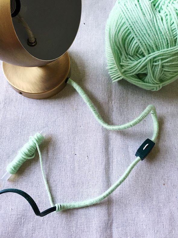 Little Green Notebook Yarn Lamp Jenny Komenda