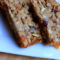 Cranberry Apricot Almond Granola Bars