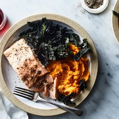 Åsa's Salmon with Kale and Sweet Potato