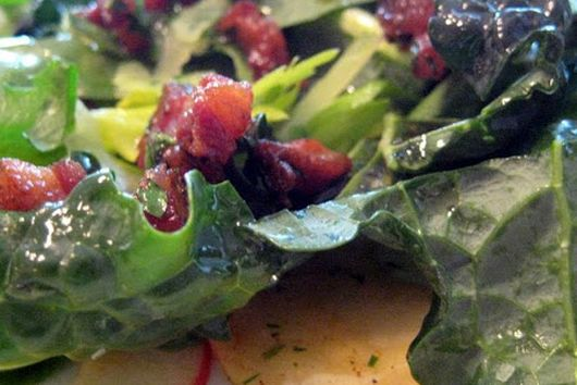 Cavolo Nero al Guanciale (Kale with Guanciale)