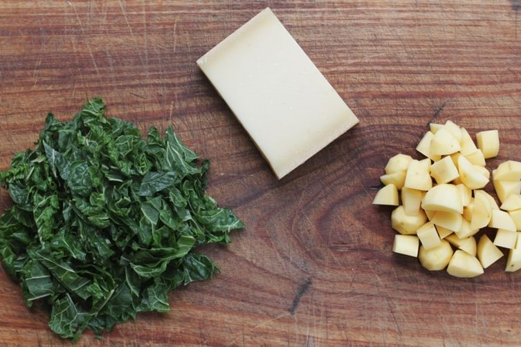 Buckwheat Pasta with Potatoes and Swiss Chard