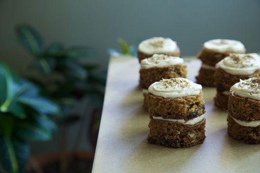 Mini Carrot Cakes with Tahini Buttercream