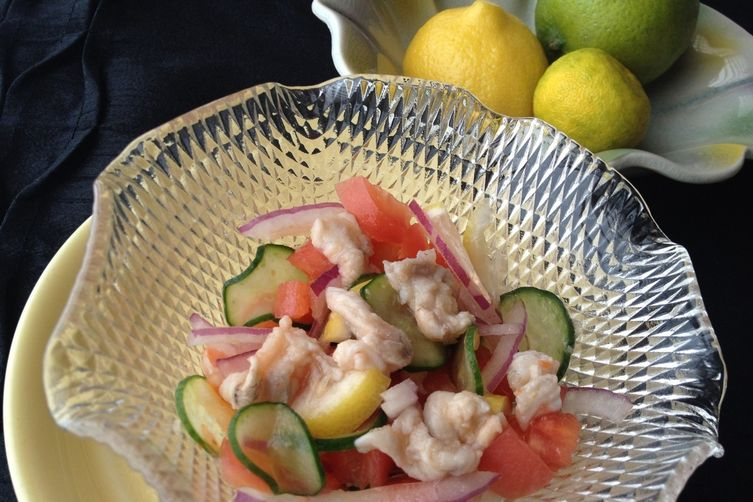Simple Seabass-Salad Ceviche