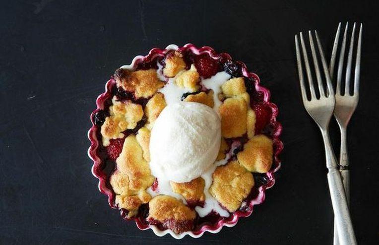 Joan Nathan's Chosen Red, White, and Blue Fruit Crisp