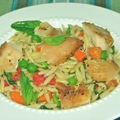 Orzo with Roasted Chicken