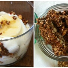Sugarless crunchy granola