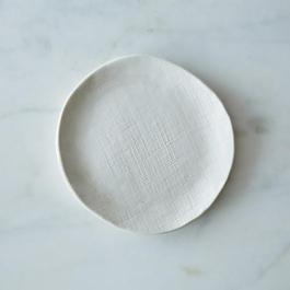 Burlap Textured Dessert Plate Set