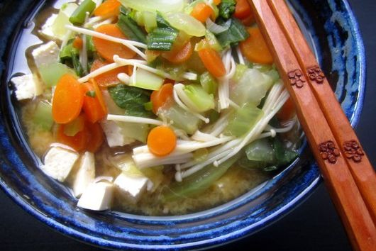 Soba Noodle Soup with Miso and Veggies