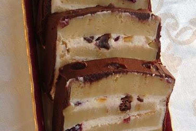 Cassata Siciliana with Ricotta-Cream Cheese Filling and Chocolate Frosting
