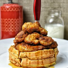 Eggnog Chicken & Waffles