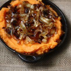 Semisweet Potato Mash with Caramelized Onions