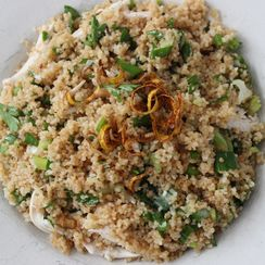 Toasted Couscous Spring Onion Salad