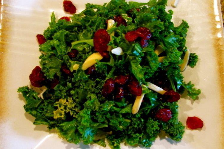 Cranberry Almond Kale Salad