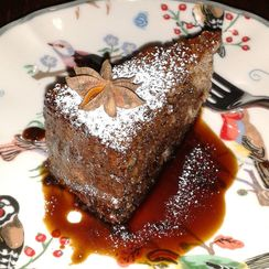 Walnut Sponge Cake with Spiced Coffee Syrup (*gluten free option)