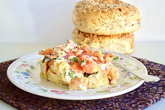 Everything Bagel and Lox Casserole