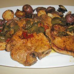 Pork Chops and Vinegar Peppers