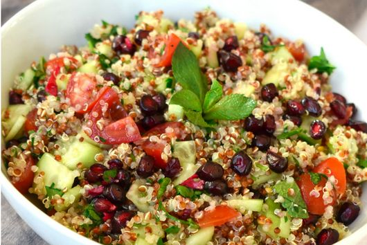 {Veg & GF} Quinoa & Pomegranate Tabbouleh Salad