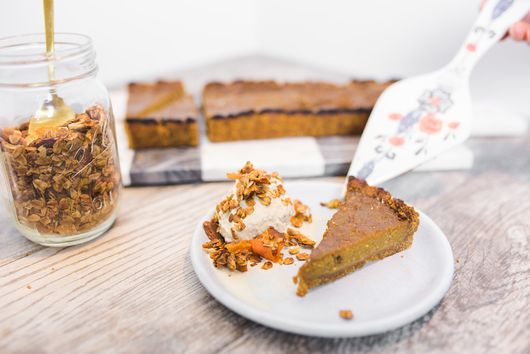 Butternut Squash Tart with Tahini Honey Graham Crust