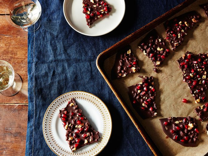 A Temper-free Chocolate Bark that (Happily) Accepts Everything from Cookies to Croutons