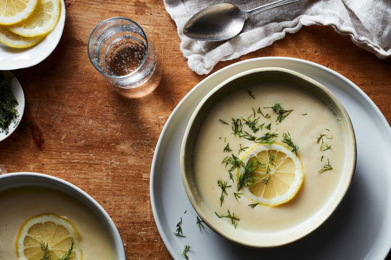 Greek Lemon Soup —Avgolemono