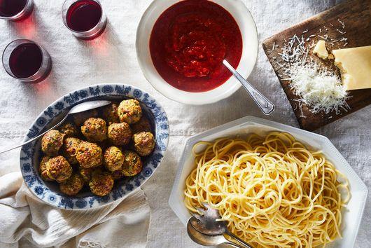Baked Quinoa-Pork Meatballs