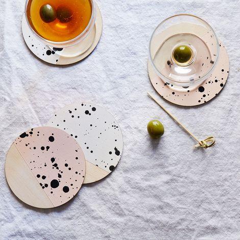 Madewell x Food52 Speckled Birchwood Coasters (Set of 4)