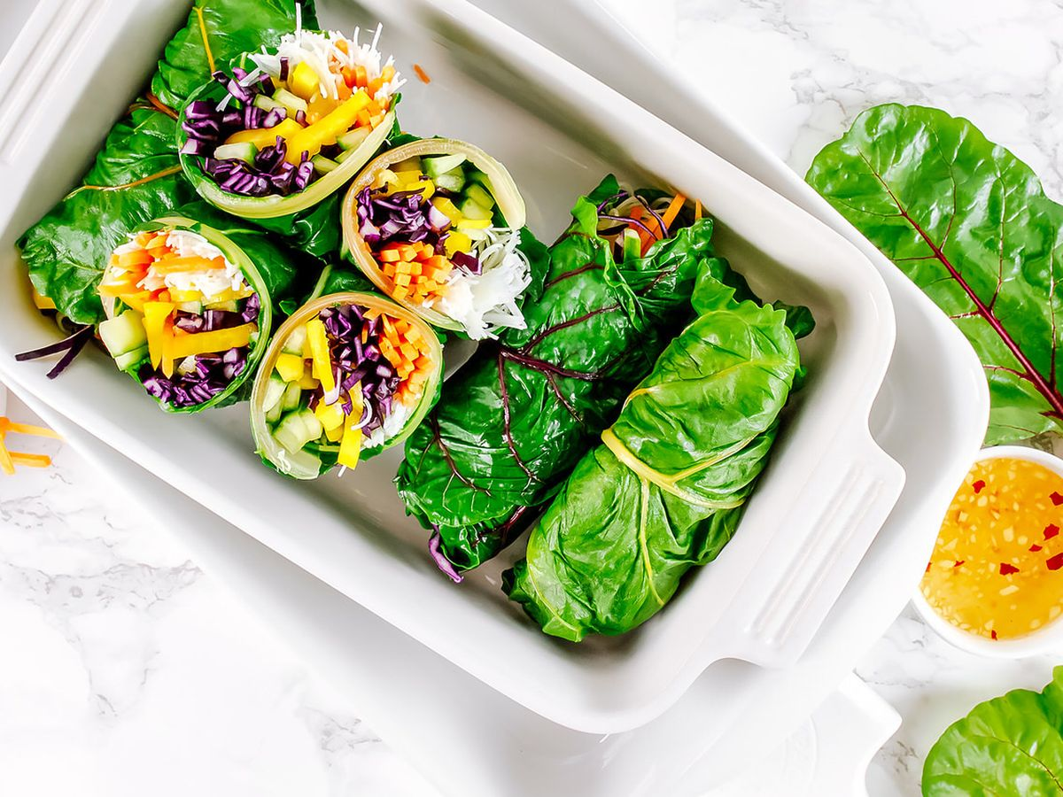 Asian Style Rainbow Chard Wraps Recipe On Food52