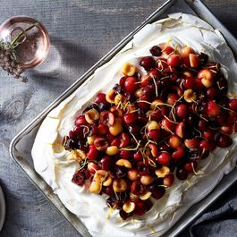 Fresh Cherry Slab-Pavlova (Slablova)