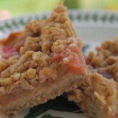 Rhubarb Hazelnut Oatmeal Squares
