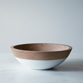 Hand-Dipped Walnut Wood Bowl (12 Inch)