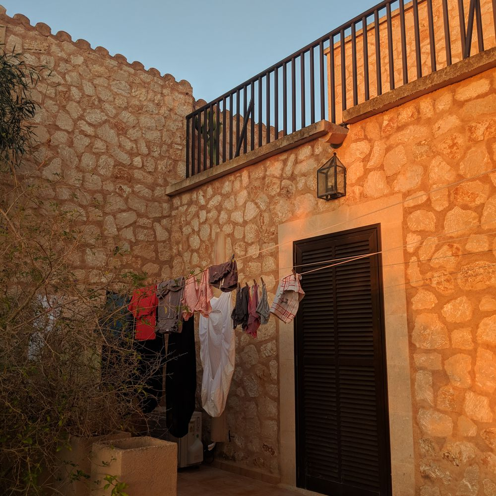 The writer's husband's family home in Ses Salines, Mallorca