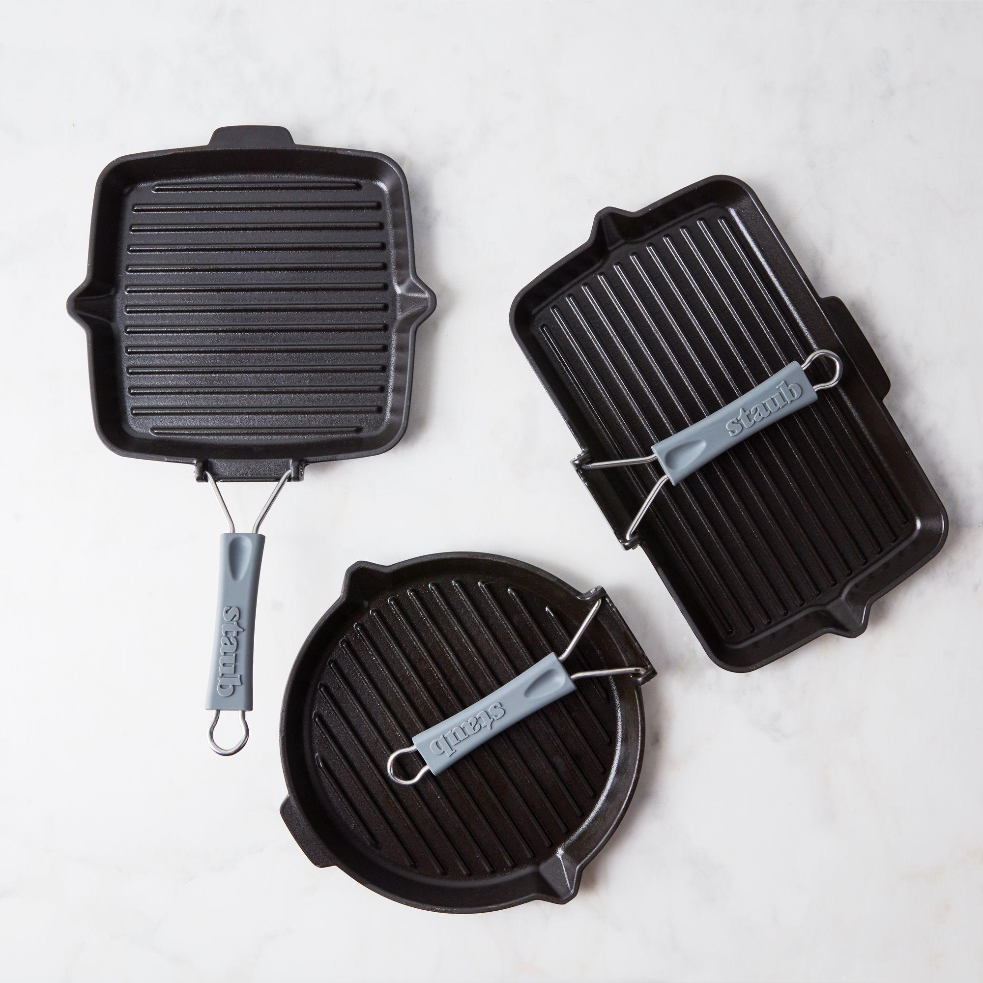 Staub Cast Iron 10-inch Round Folding Grill Matte Black