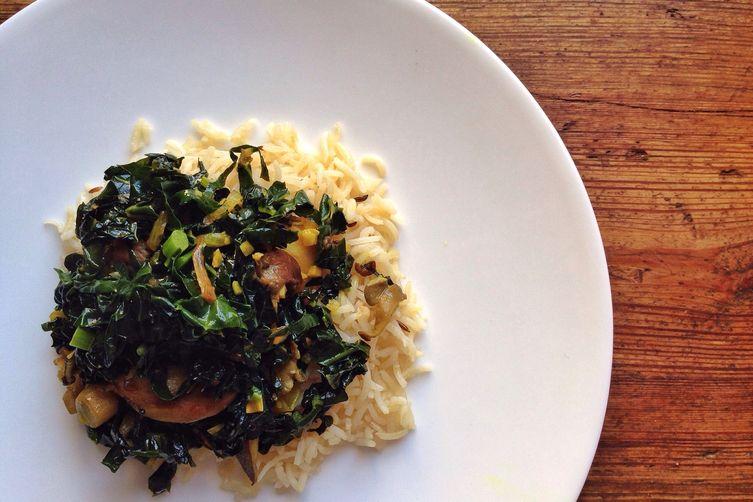 Kale & Oyster Mushroom Saag