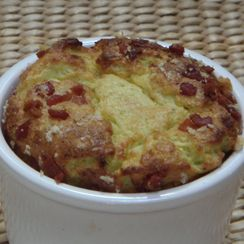 Brussels Sprouts and Cheese Soufflés