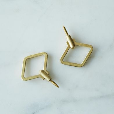 Diamond Shaped Brass Wall Hooks