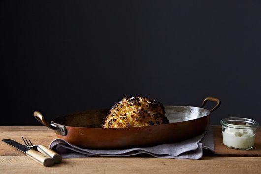 Alon Shaya's Whole Roasted Cauliflower with Whipped Goat Cheese