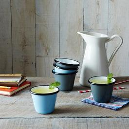 Porcelain Enamelware Stacking Cups