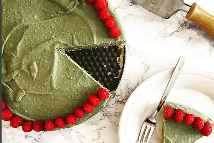 Raw Matcha Coconut Ice Cream cake