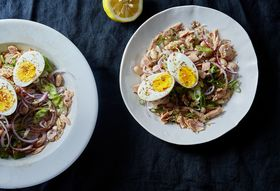 Dae93534 4341 497e 9b2e 723255e06933  2016 0517 white bean tuna salad with hard boiled eggs and dukkah linda xiao 098